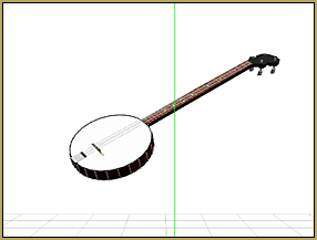 Reggie made this MMD banjo frm a model found in the Sketchup 3D Warehouse.