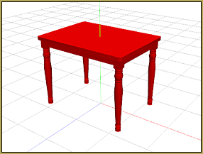 this painted table is a nice model. It fits into most domestic indoor scenes.