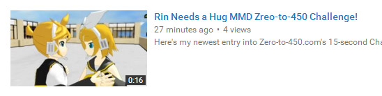 "Reggie's ""Rin Needs a Hug"" answers the Zero-to-450 Challenge of the same name "":o)."