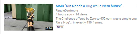 "Reggie Dentmore's Zero-to-450.com ""Rin needs a Hug"" Challenge entry."