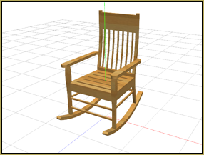 Reggie's Rocking Chair pivots perfectly when you attach it to a dummy bone!